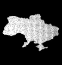ukraine map with crimea collage of dots vector image