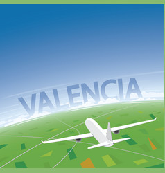 Valencia flight destination vector