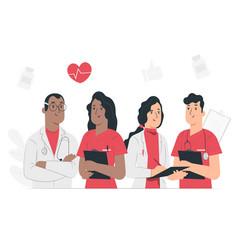 Variety medical staff set vector