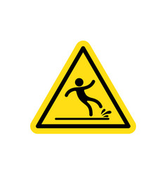 Warning wet floor vector