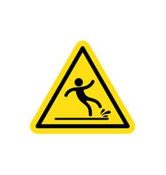 Warning wet floor vector