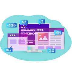 Website development program code personal vector