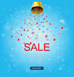 winter sale background with confetti vector image
