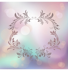 abstract background with floral calligraphic frame vector image