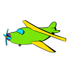 biplane icon icon cartoon vector image