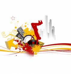 break dance background vector image