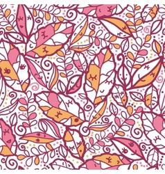 Cartoon Autumn Leaves Seamless Pattern background vector image