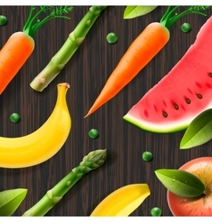 Healthy fresh organic products advertising poster vector image