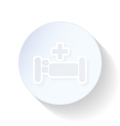 Hospital bed thin lines icon vector image
