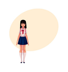 japanese teenage schoolgirl in typical uniform vector image vector image