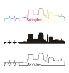 Springfield skyline linear style with rainbow vector image vector image