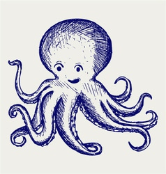 Tentacles octopus vector image vector image