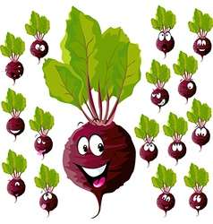 beetroot with many expressions vector image