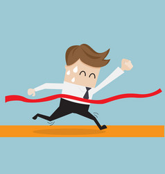 Businessman in finish line business success vector