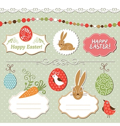 Easter set easter elements vector image vector image