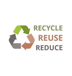 recycle icon flat design vector image