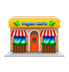 vegetarian cafe isolated on white vector image vector image