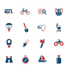 active recreation icon set vector image vector image