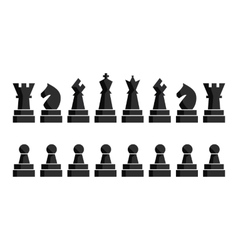 Black chess icons set Chess board figures vector image