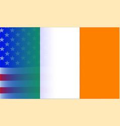 irish flag stars and stripes vector image
