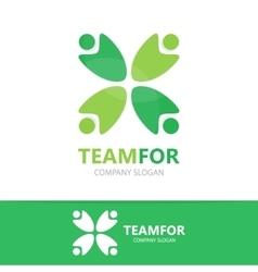 people logo design template vector image