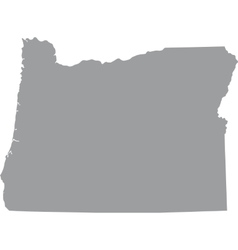 US state of Oregon vector image vector image