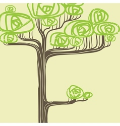 Abstract of stylized green tree vector image