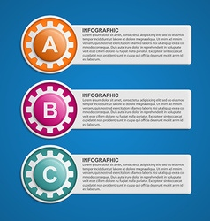 Color Gears Infographics Options Banner vector image