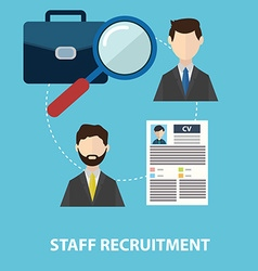 Employee staff recruitment vector image