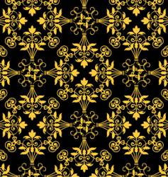 floral heraldry pattern vector image vector image
