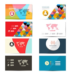 Paper Business Card Template - Layout Set vector image vector image