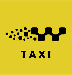 taxi logo sign car shape vector image vector image