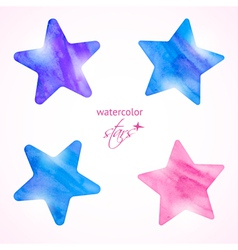 Watercolor stars set vector