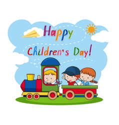 A happy childrens day vector