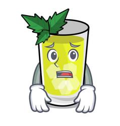 Afraid mint julep mascot cartoon vector