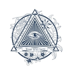 All seeing eye Tatoo masonic symbol vector image