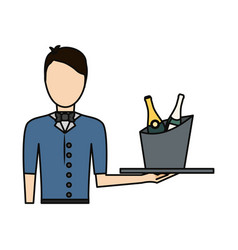 avatar bartender icon vector image