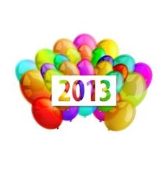 balloons 2013 vector image