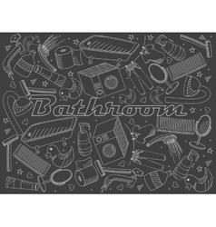 Bathroom chalk vector image
