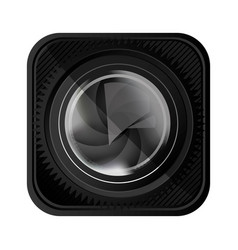 black lens camera icon vector image
