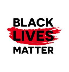 Black lives matter - anti-racism social change vector