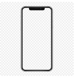 Black phone mock up with transparent screen vector