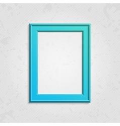 Blue modern picture frame vector image