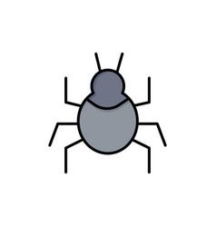 Bug nature virus indian flat color icon icon vector
