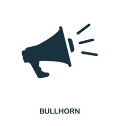 bullhorn icon line style icon design ui vector image