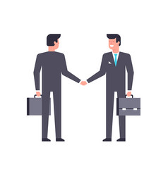 businessmen shake hands vector image