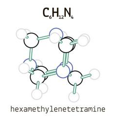 C6h12n4 hexamethylenetetramine molecule vector