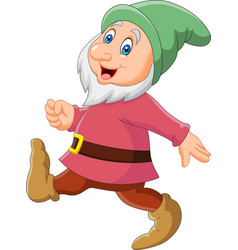 cartoon happy dwarf vector image