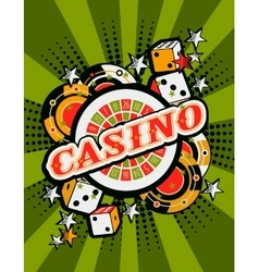 Casino background poster print vector
