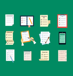 checklist test to do set document questionnaire vector image